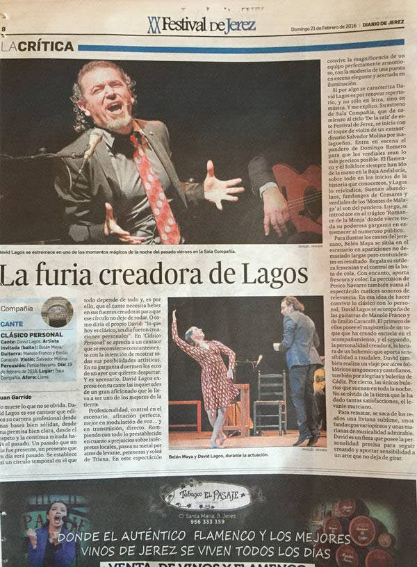'Clásico Personal', reseña en Diario de Jerez
