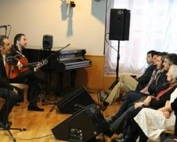 David Lagos y Alfredo Lagos, ofrecieron su recital en el homenaje al escritor Caballero Bonald