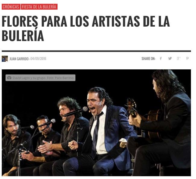 'Flores para los artistas de la Bulería'. Jerezjondo.com